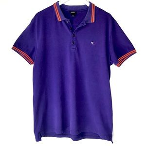 DIESEL. Purple & Orange Polo.  Size XXL